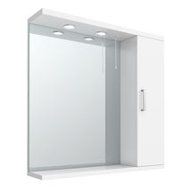 Cove White Illuminated Mirror Cabinet (750mm Wide) Medium Image