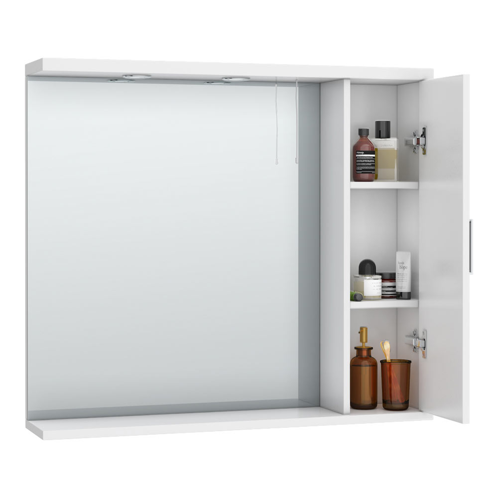 Cove White Illuminated Mirror Cabinet | Bathroom Mirrors With Storage: A Stylish Solution to Your Bathroom Clutter