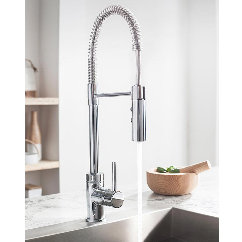 Crosswater Cook Side Lever Kitchen Mixer with Flexi Spray - CO717DC profile large image view 2