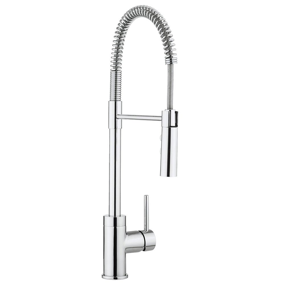 Crosswater Cook Side Lever Kitchen Mixer with Flexi Spray - CO717DC  Large Image