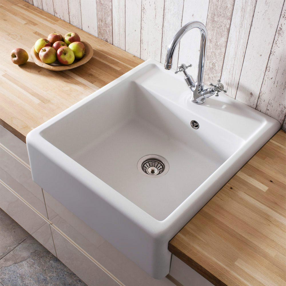 Crosswater - Cucina Belgravia Semi Inset Belfast Kitchen Sink - KS_BL5963CW profile large image view 1