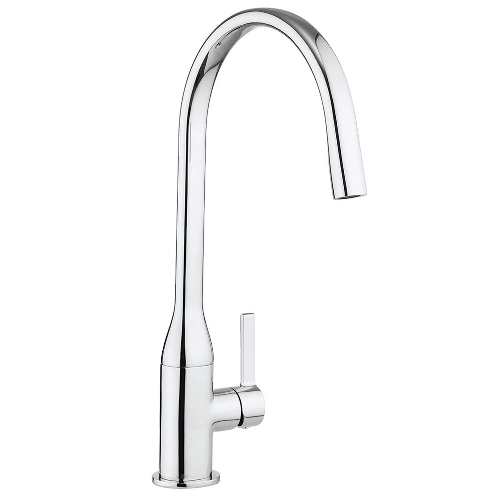 Crosswater Svelte Side Lever Kitchen Mixer - SE714DC  Large Image