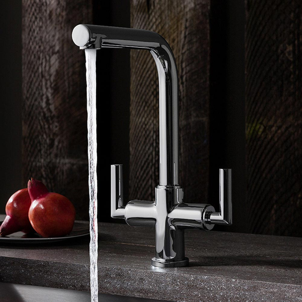Crosswater Tropic Dual Control Kitchen Mixer - TP711DC profile large image view 2