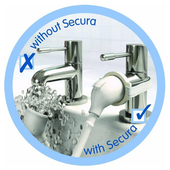 Croydex Bath Shower Set - White - AB160022 Profile Large Image