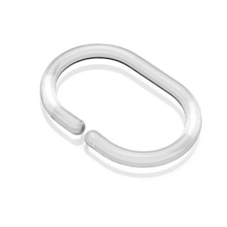 Croydex C-Type Shower Curtain Rings - Clear - AK142132