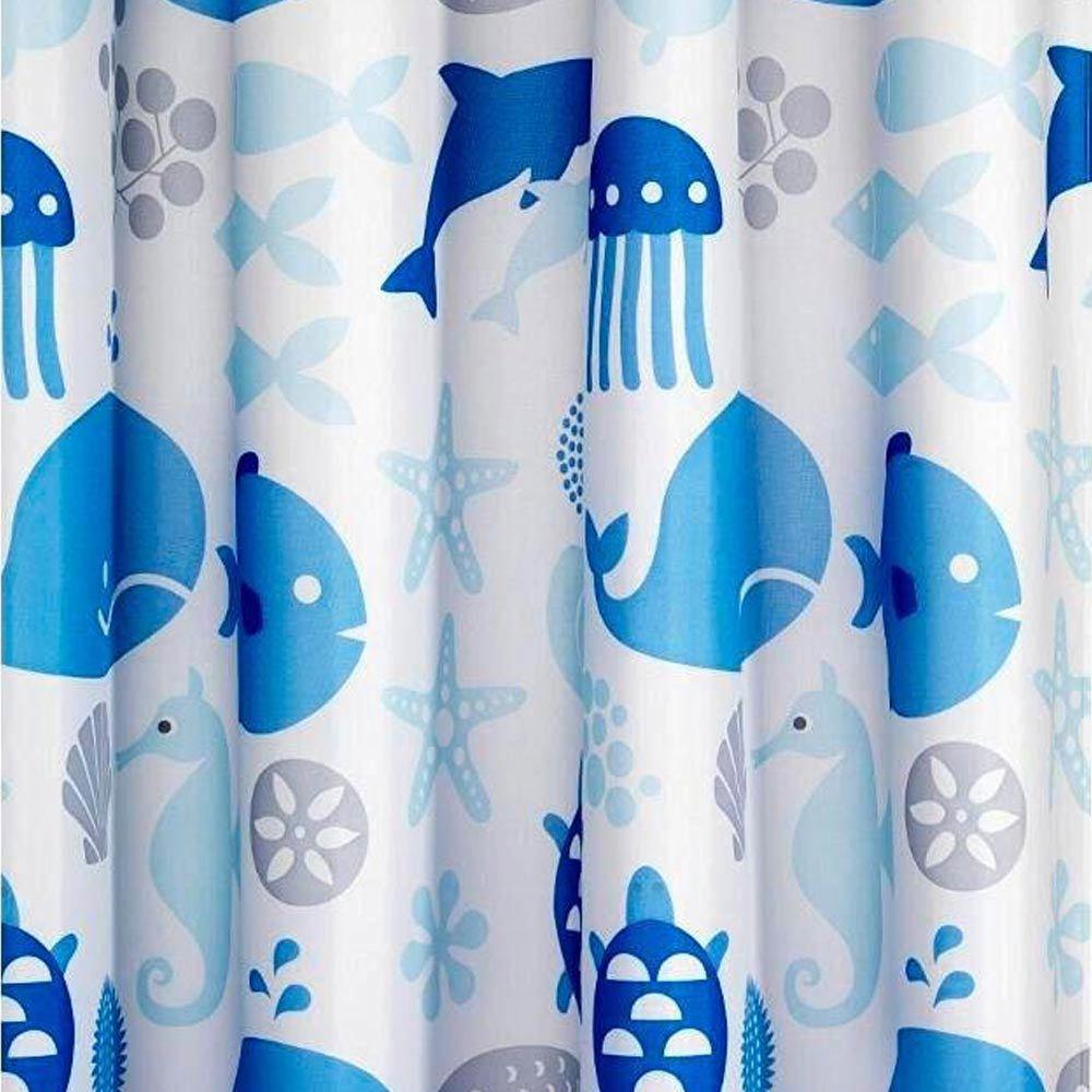 Croydex Coast Textile Shower Curtain W1800 x H1800mm - AF288624 Large Image