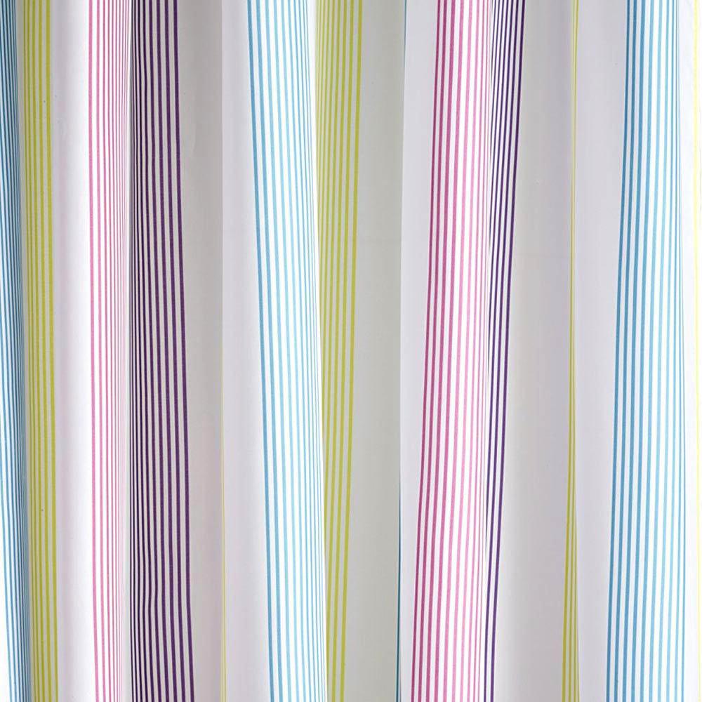 Croydex - Fresh Stripes Textile Shower Curtain - W1800 x L1800mm - AF288515 Large Image