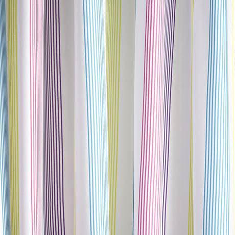 Croydex - Fresh Stripes Textile Shower Curtain - W1800 x L1800mm - AF288515