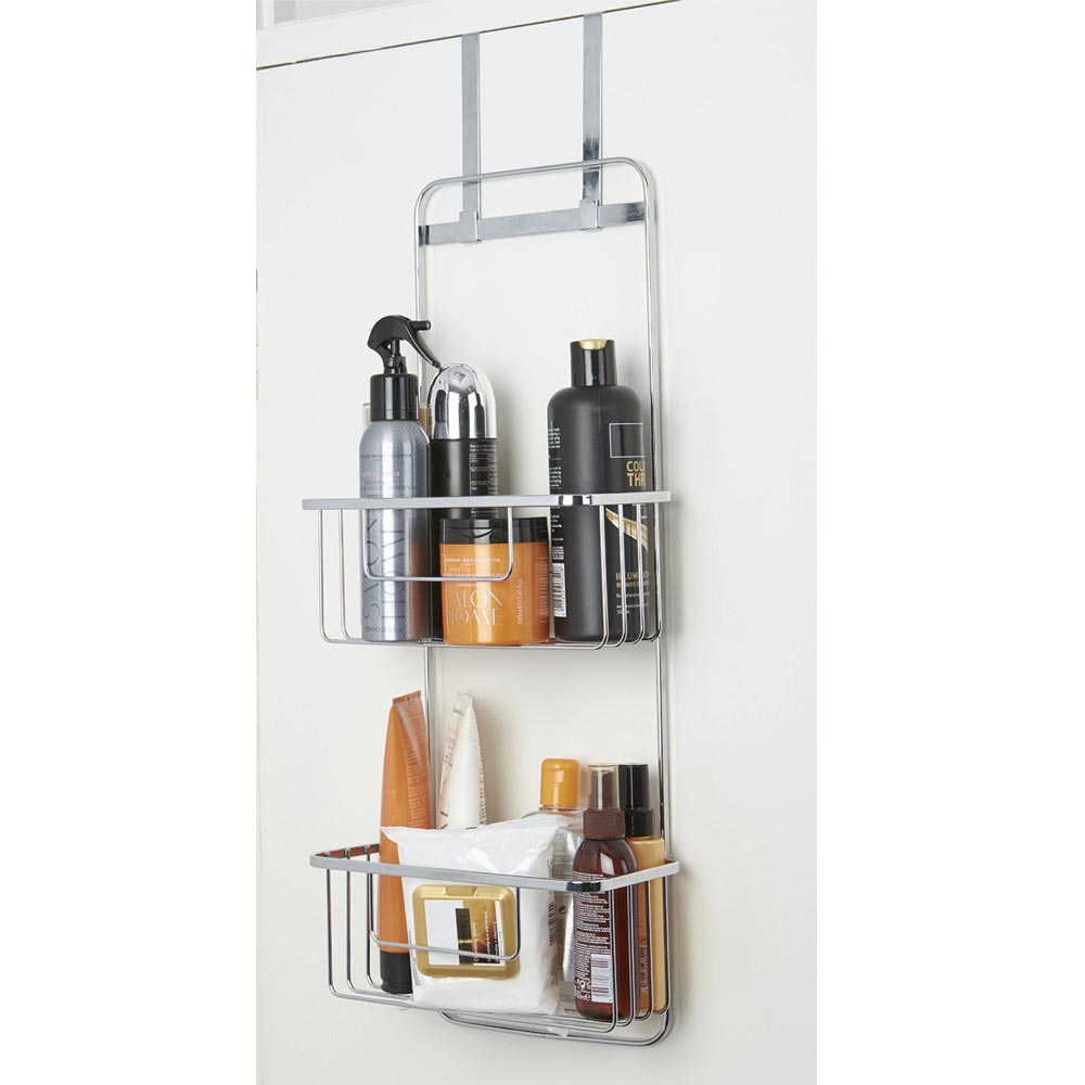 Croydex Hanging Double Storage Basket - Chrome Plated profile large image view 2