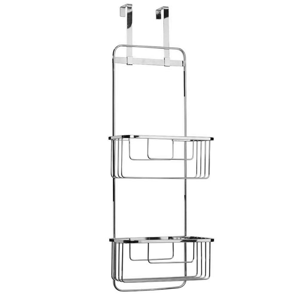 Croydex Hanging Double Storage Basket - Chrome Plated profile large image view 1