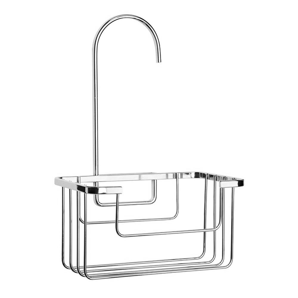 Croydex Hanging Shower Riser Rail Caddy - Chrome Plated profile large image view 2