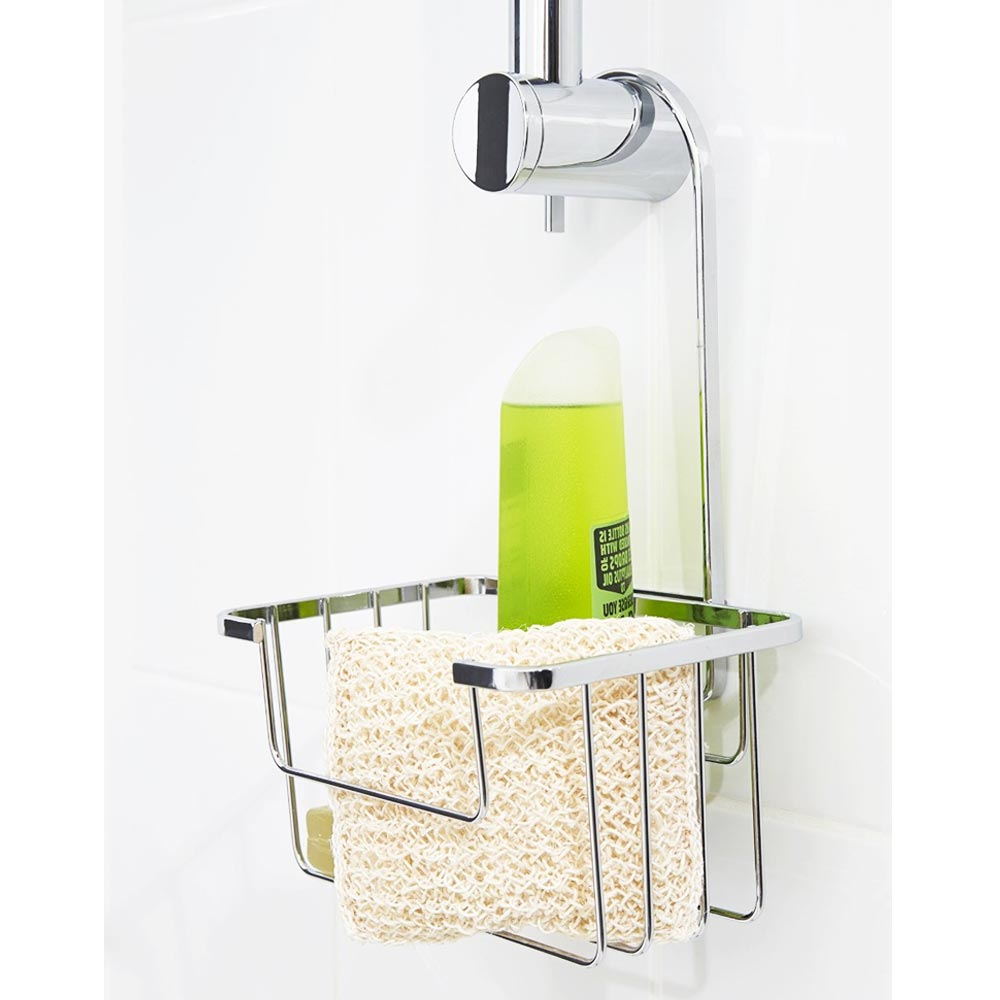 Croydex Hanging Shower Riser Rail Caddy | Victorian Plumbing.co.uk