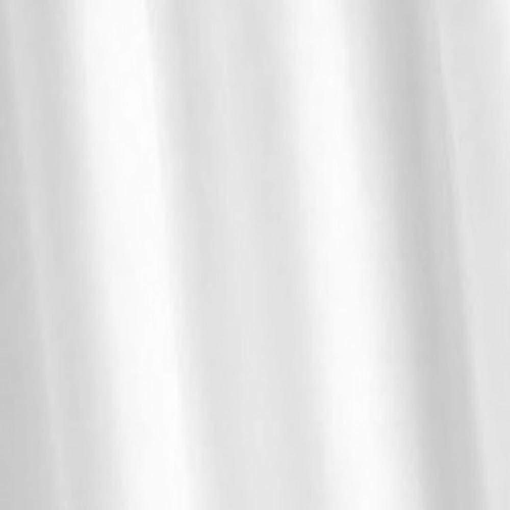 Croydex Plain White Textile Shower Curtain W1800 x H1800mm - AF159022