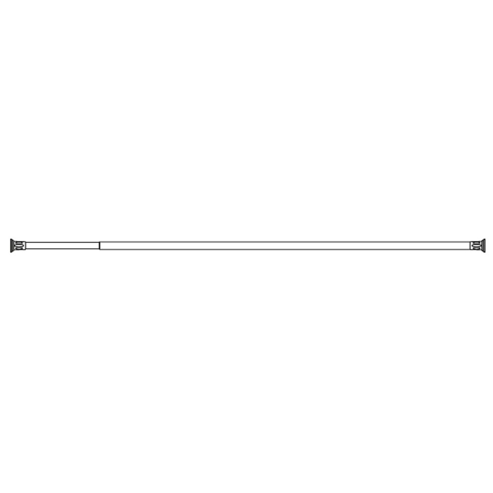 "Croydex 8' 6"" Telescopic White Shower Rod AD102022 profile large image view 2"