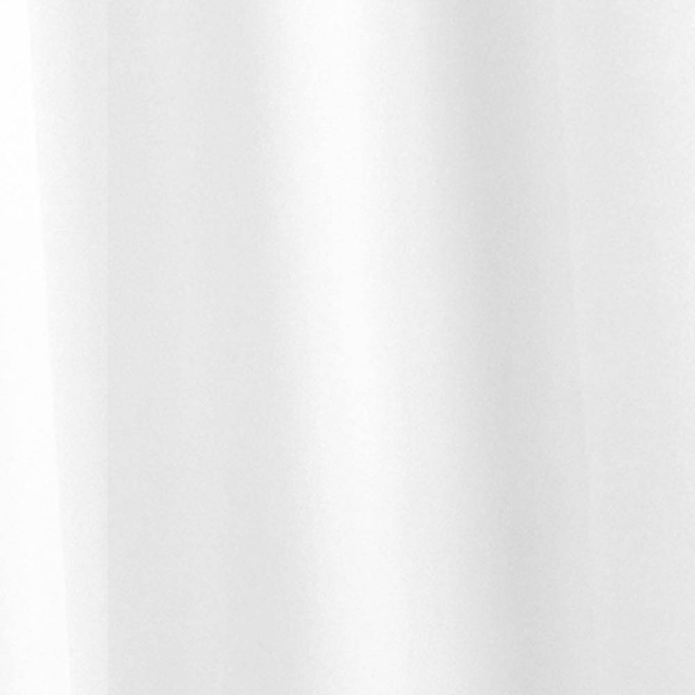 Croydex White Plain PVC Shower Curtain W1800 x H1800mm - AE100022 profile large image view 1