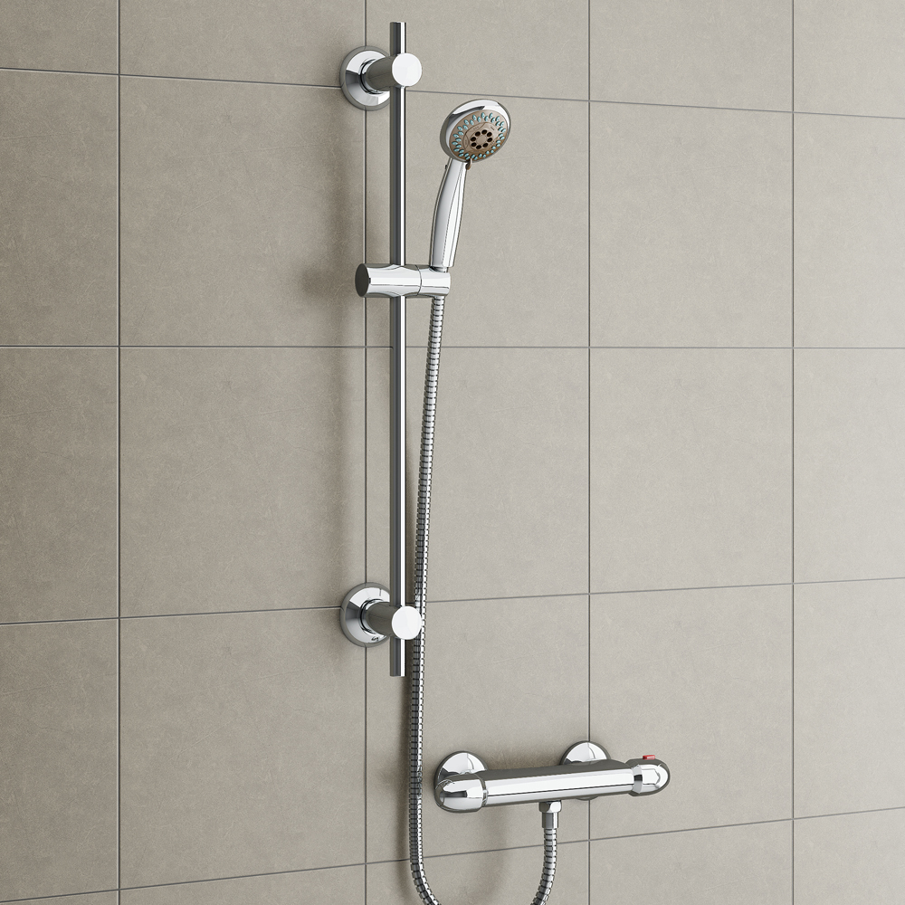 Cruze Bar Shower Package with Valve & Slider Rail Kit Profile Large Image
