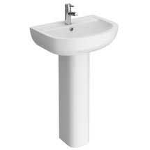 Cruze Basin with Full Pedestal (550mm Wide - 1 Tap Hole) Medium Image