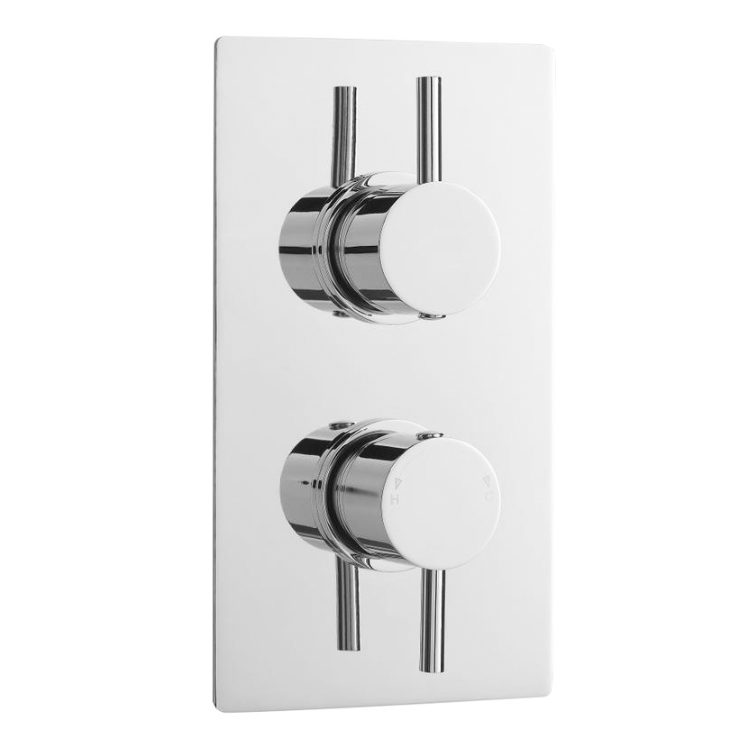 Cruze Concealed Thermostatic Valve with Diverter, Fixed Shower Head & 4 Body Jets profile large image view 4