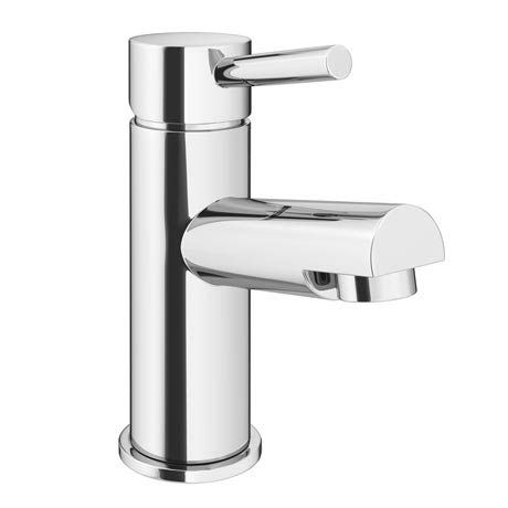 Cruze Contemporary Mono Basin Mixer Tap with Waste - Chrome