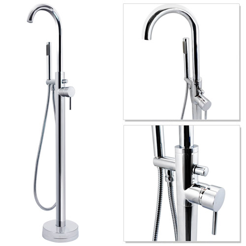 Cruze Freestanding Bath Taps with Shower Mixer profile large image view 1