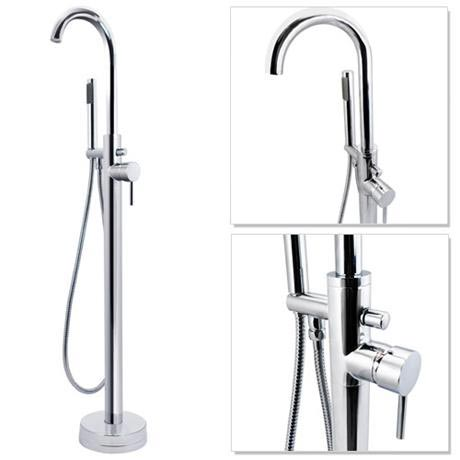Cruze Freestanding Bath Taps with Shower Mixer