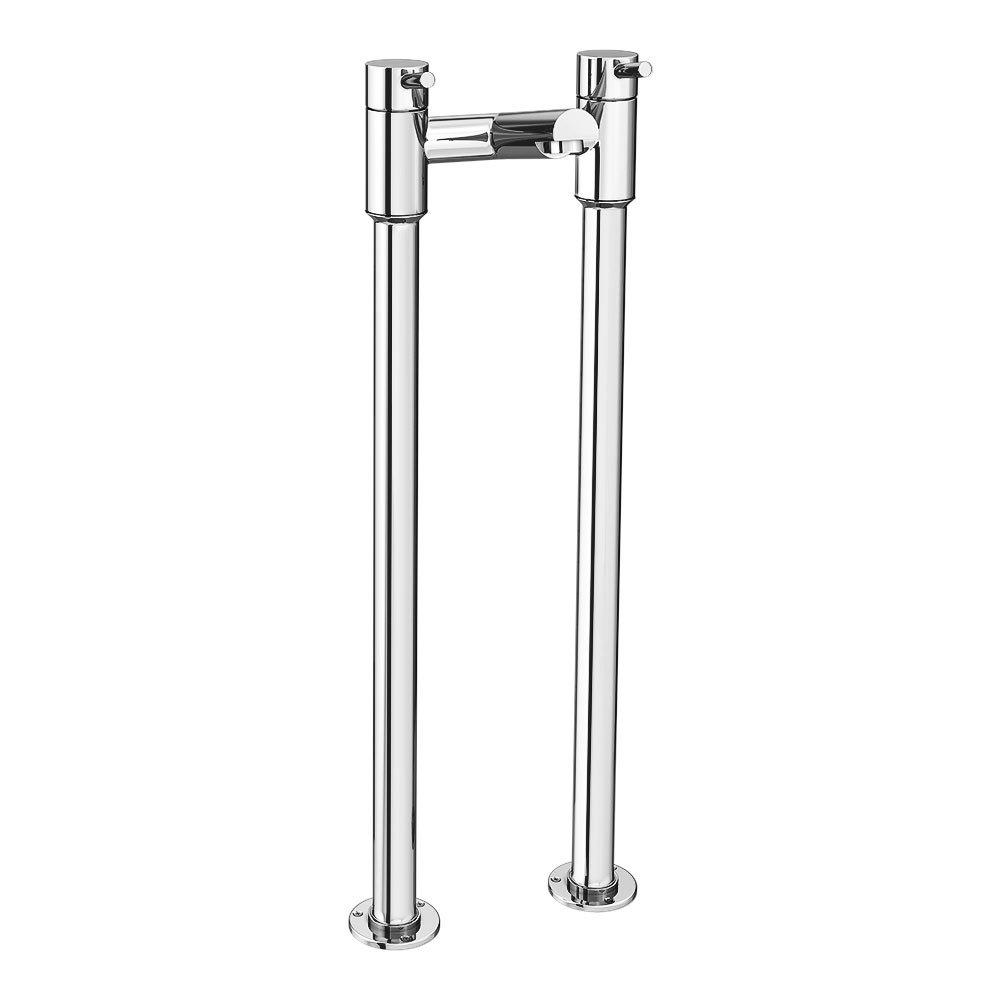 Cruze Contemporary Freestanding Bath Filler - Chrome