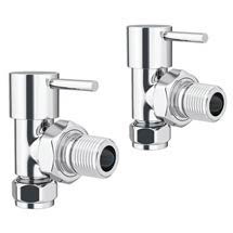 Cruze Modern Angled Radiator Valves (Pair) Medium Image