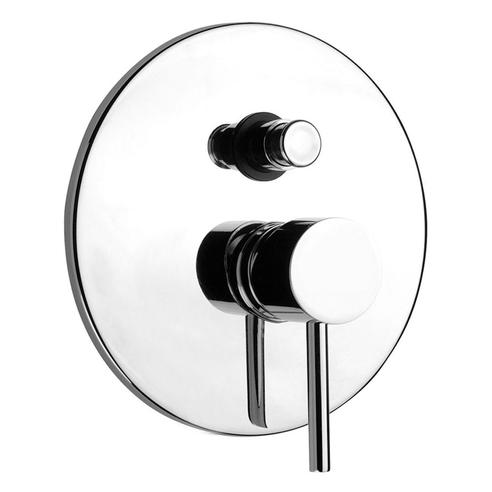Cruze Modern Concealed Manual Shower Valve with Diverter - Chrome profile large image view 1