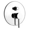Cruze Modern Concealed Manual Shower Valve with Diverter - Chrome Small Image