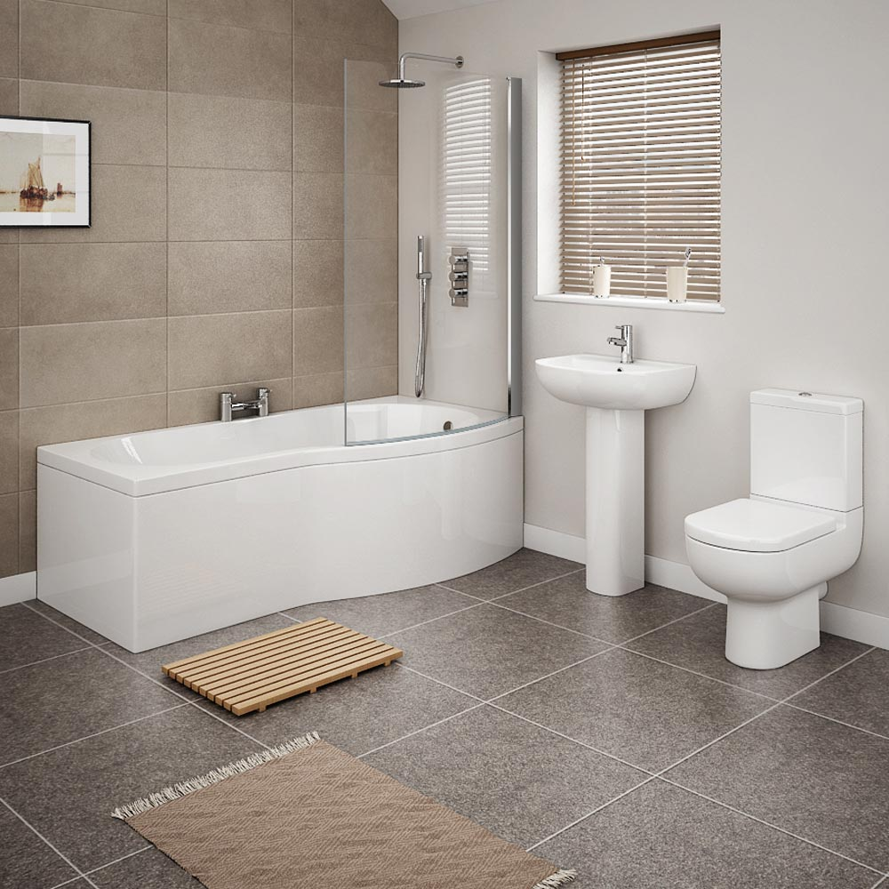 Cruze modern shower bath suite now online at victorian for Modern bathroom suites pictures