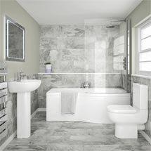 Cruze Modern Shower Bathroom Suite Medium Image