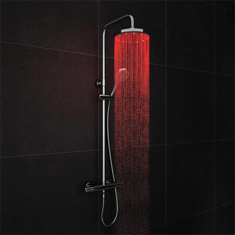 Cruze Modern LED Thermostatic Shower - Chrome