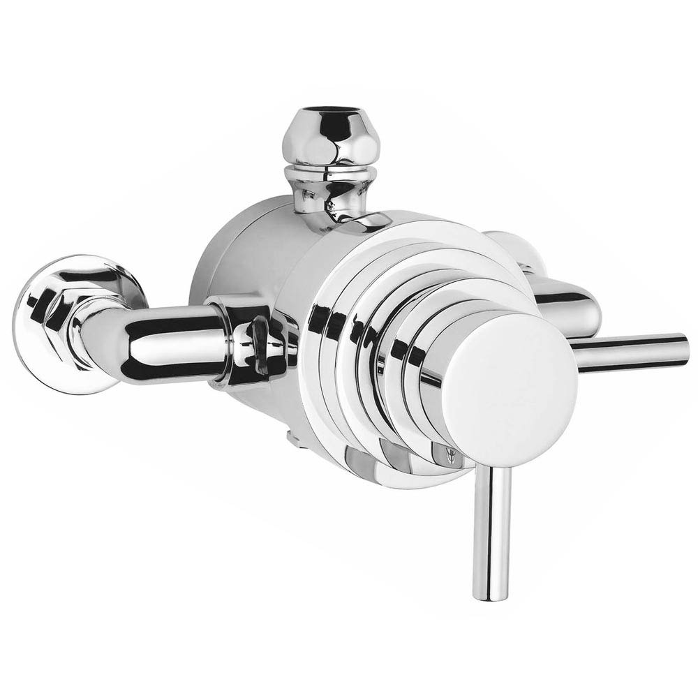 Cruze Modern Round Concealed Dual Thermostatic Shower Valve profile large image view 2