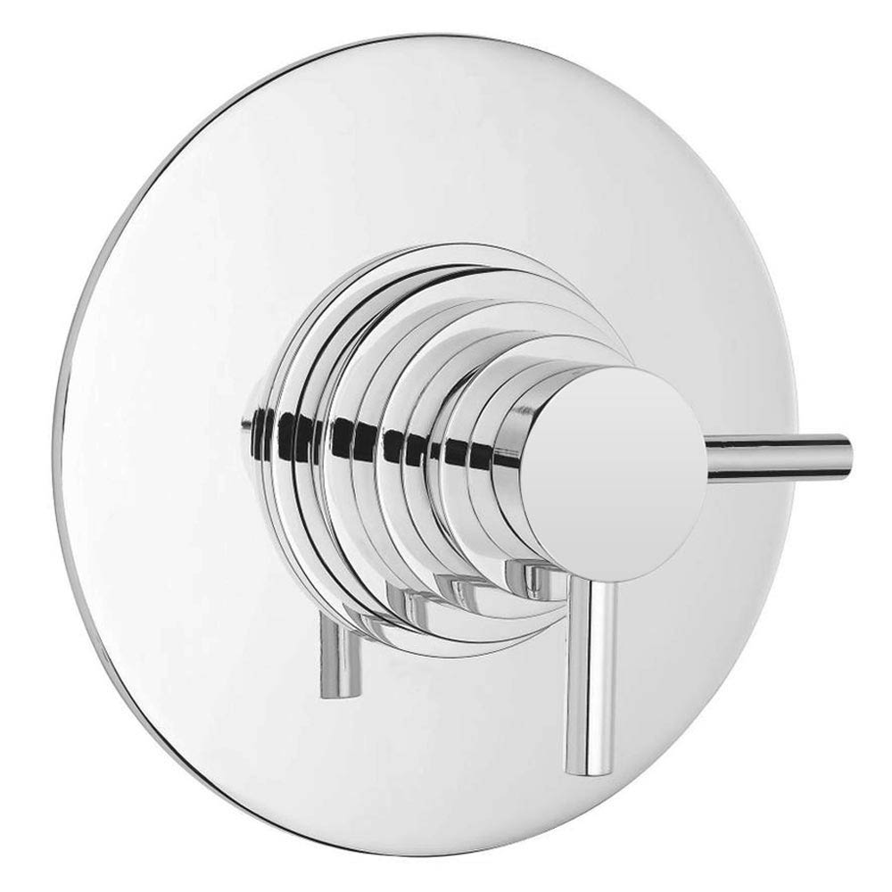 Cruze Modern Round Concealed Dual Thermostatic Shower Valve profile large image view 1