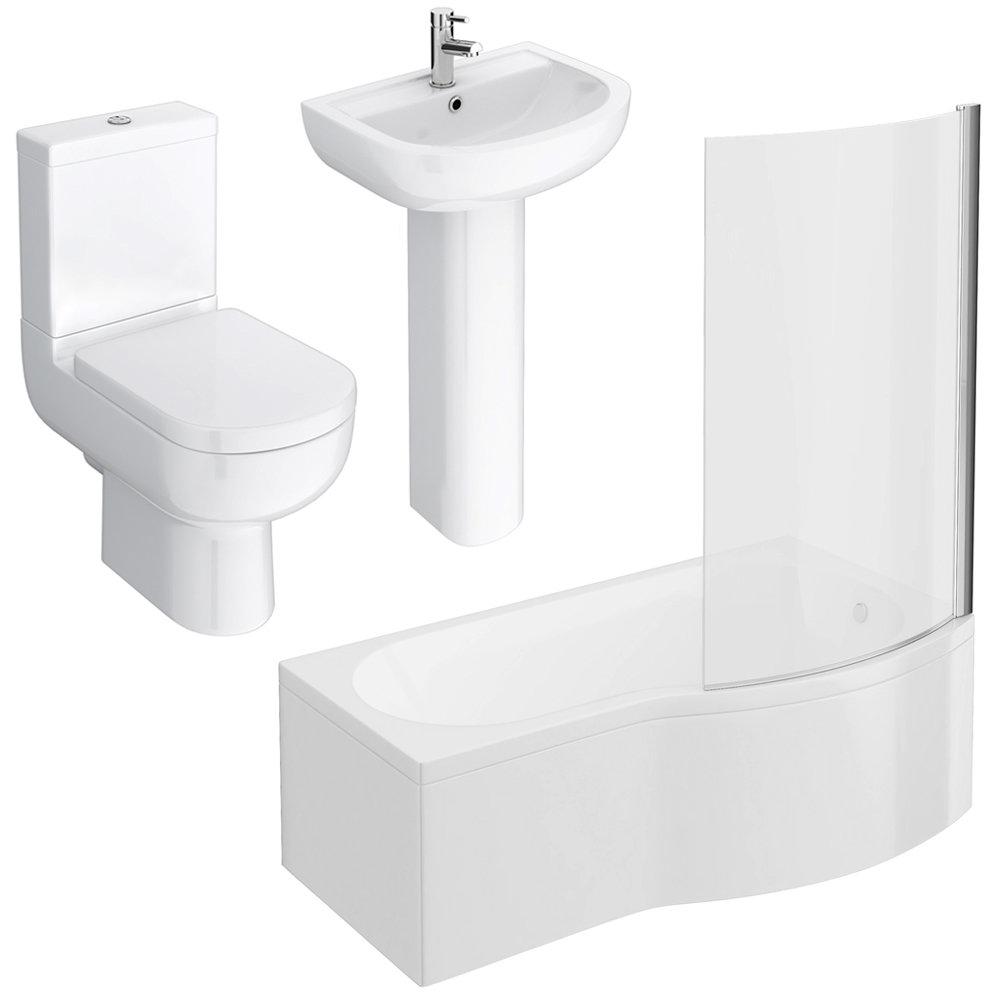Cruze Modern Shower Bathroom Suite Standard Large Image