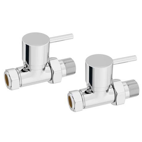 Cruze Modern Straight Radiator Valves (Pair)