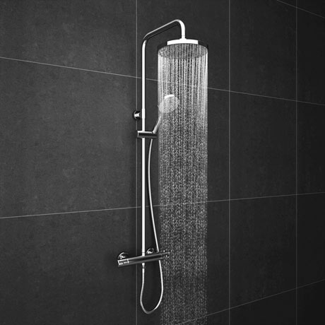 Cruze Modern Thermostatic Shower - Chrome