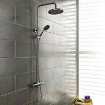 Cruze Modern Thermostatic Shower - Chrome Medium Image