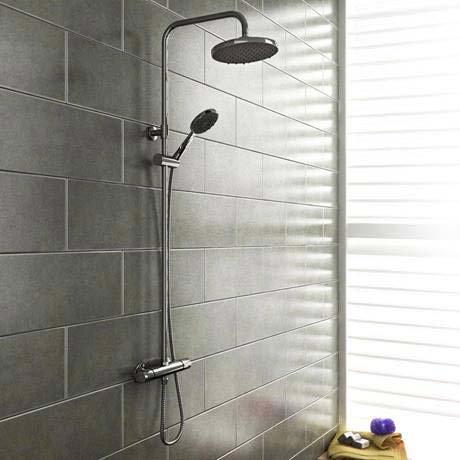 Cruze Modern Thermostatic Shower - Chrome