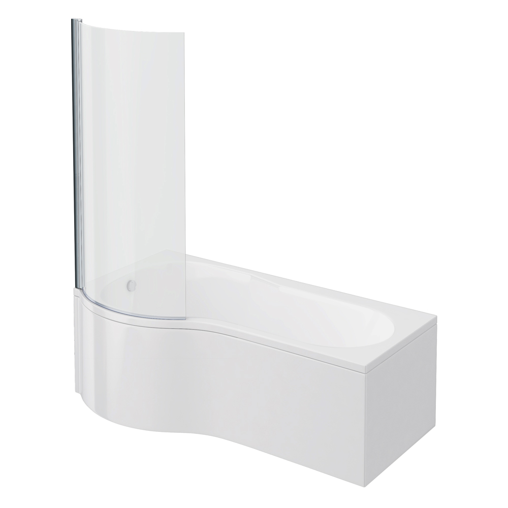 Curved Shower Bath Panel Premier Curved Shower Bath with Screen and ...