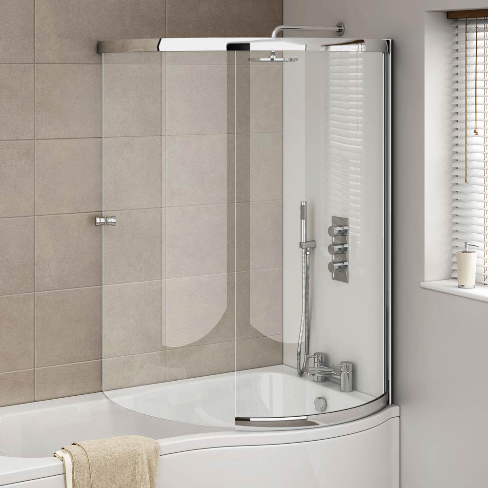 cruze p shaped sliding bath screen available at victorian plumbing