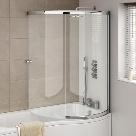 Cruze P-Shaped Sliding Bath Screen