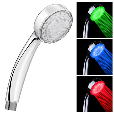 Cruze Round LED Chrome Shower Handset
