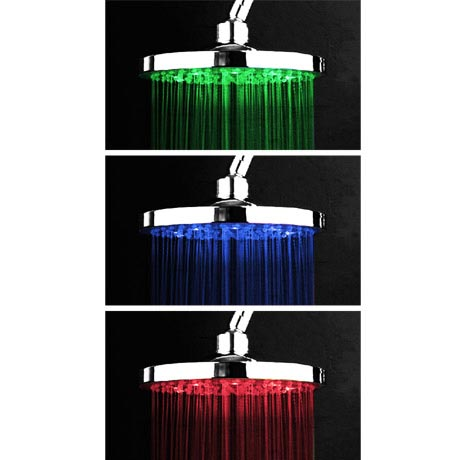 Cruze 200mm Round LED Chrome Shower Head