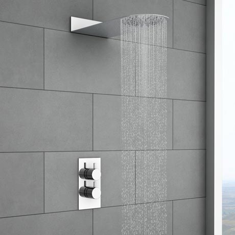 Cruze Round Shower Package with Concealed Valve & Flat Fixed Shower Head