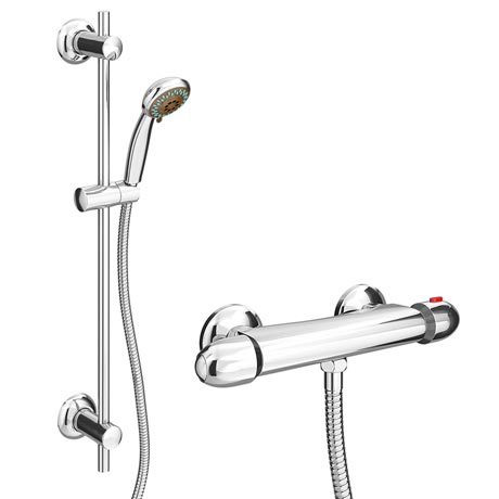 Cruze Bar Shower Package with Valve & Slider Rail Kit