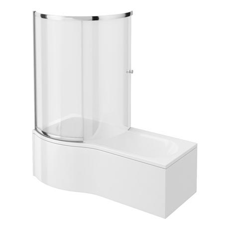 Cruze Shower Bath Enclosure - 1700mm P-Shaped Inc. Screen + Panel
