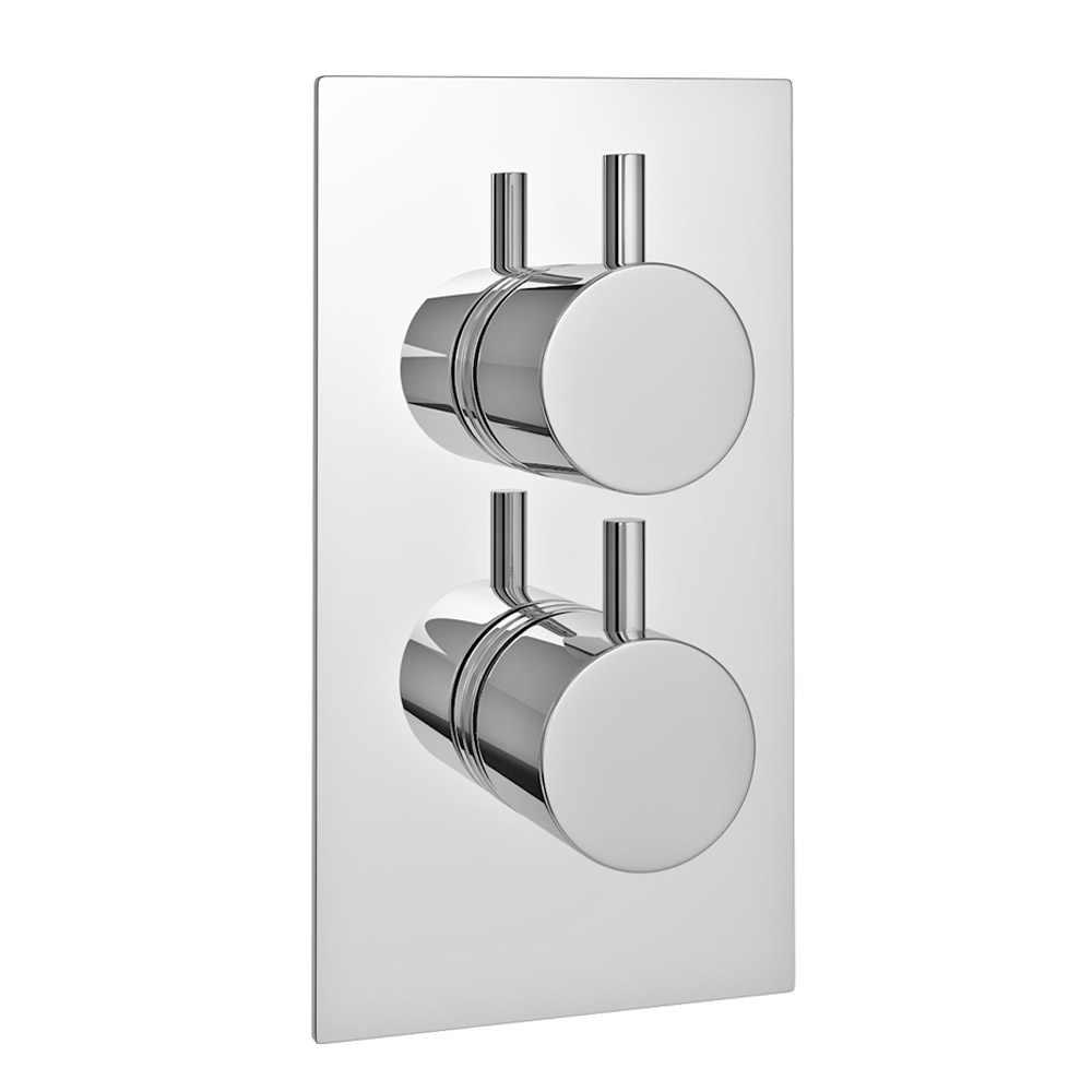 Cruze Twin Round Concealed Shower Valve - Chrome at ...