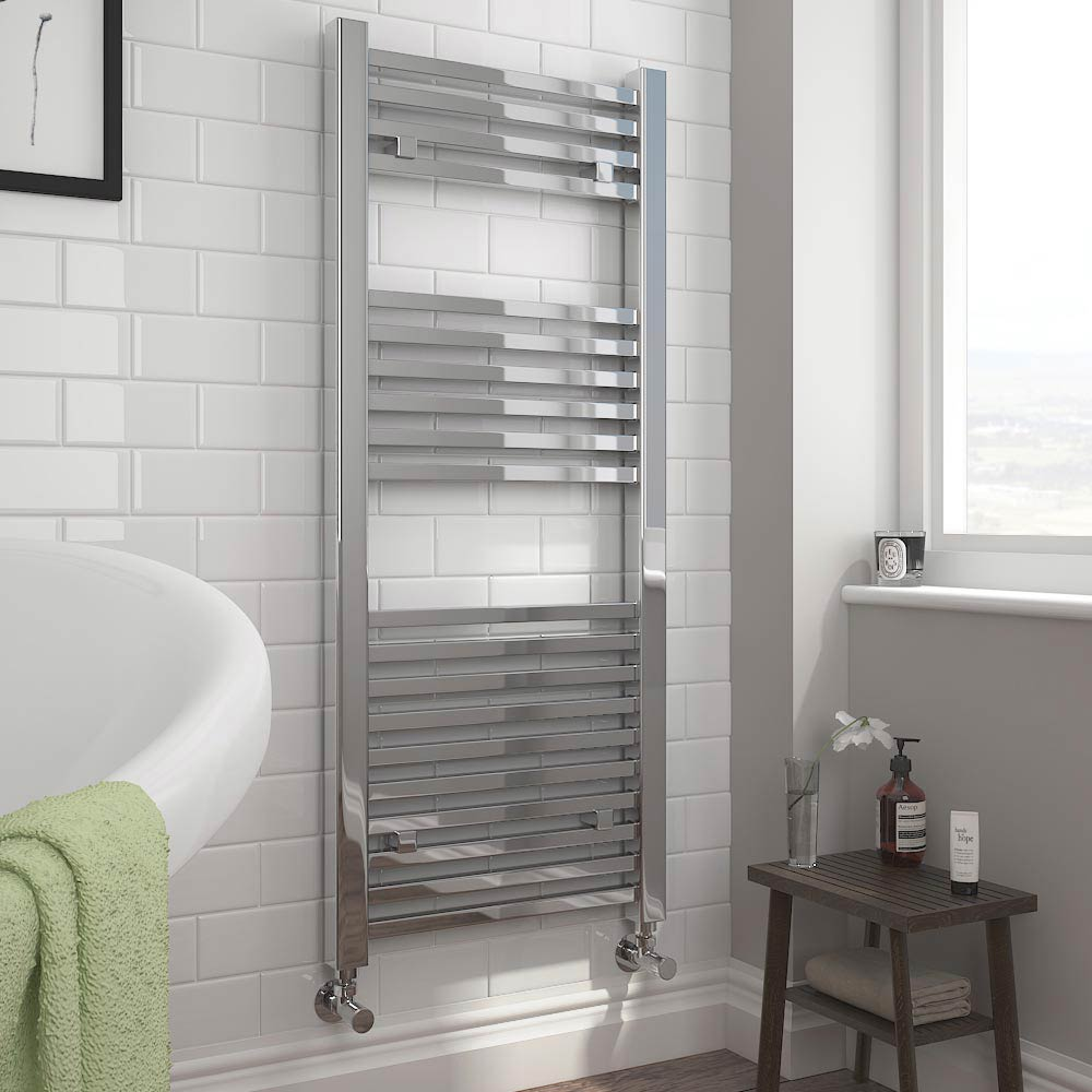 Cube Heated Towel Rail - Chrome (500 x 1200mm)  Profile Large Image
