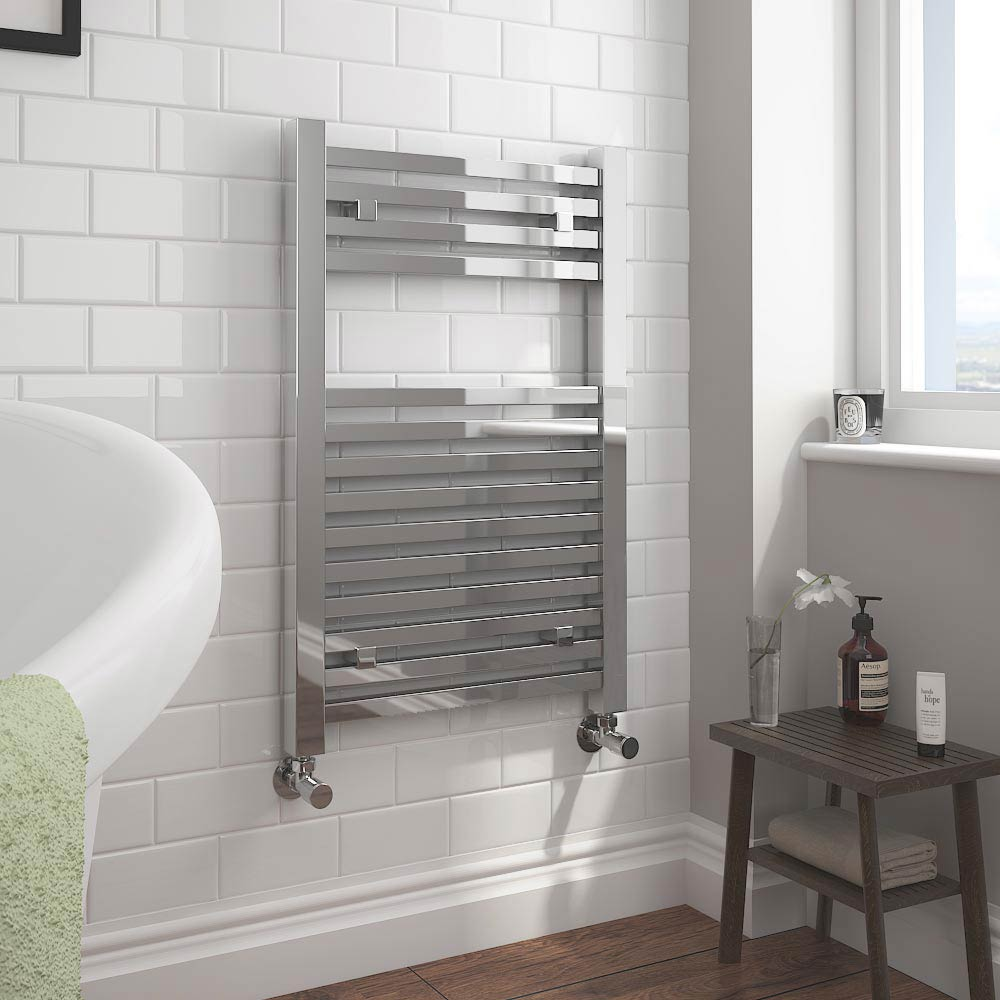 Cube Heated Towel Rail - Chrome